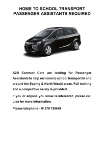 Passenger Assistants Required